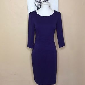 EUC Ellen Tracy 3/4 length sleeve midi dress